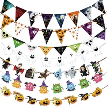 1 Set Halloween Hanging Props Holiday Party Decoration Ornaments DIY Pull The Flag 2017 halloween decoration