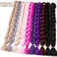 Synthetic Braiding Hair 82 inch unfold 165g/pcs Braid Bulk African Hair style Crochet Hair extensions,VERVES yaki texture