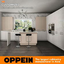 2015 China Custom Simple Design Kitchen Cupboards Designs OP15-A04
