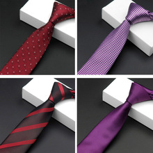 Men Fashion Stripe Floral Houndstooth Solid Thin Skinny Ties Neckties Red/Purple BWTRS0020