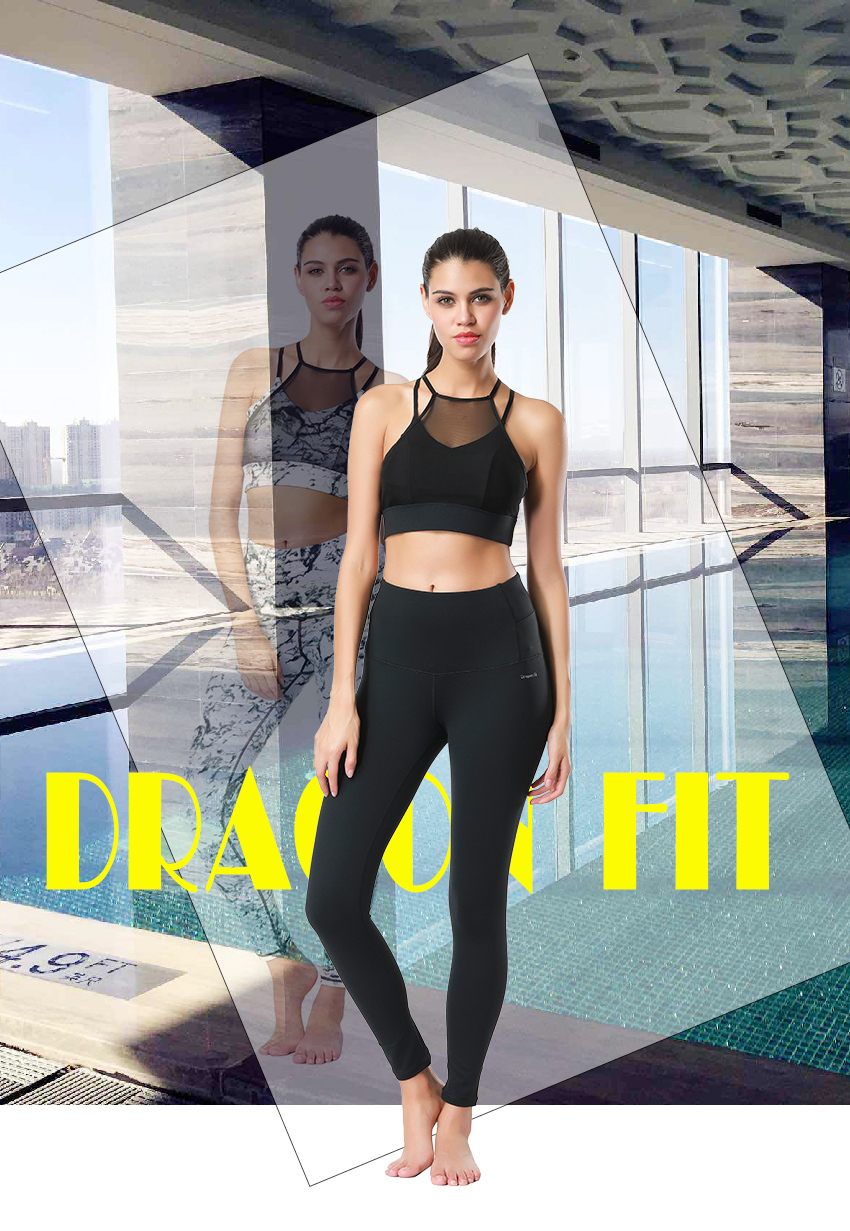 Dragon Fit Breathable Print Yoga Pants Quick Dry Sport Pants Women Fitness Gym Running Trousers Sportswear Tights Yoga Leggings