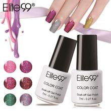 Elite99 7ml Super Bling Neon Nail Gel Soak Off UV Color Gel Nail Polish Color Nail Art Red Diamond Hybrid UV Gel Varnish