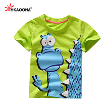 Kids Clothes Clearance Baby Boys Girls Summer Style Short Sleeve T Shirt Cartoon Animal Print Cotton Children Clothing Kids Top