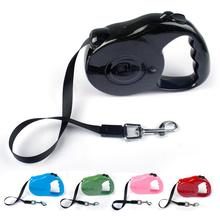 3M 5M Retractable Dog Leads Extending Puppy Walking nylon Leash 5 Colorss(China)