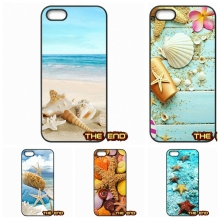 Blue Wood Seashells Sea Star Plastic Black Phone Cover Case For HTC One M10 For Microsoft Nokia Lumia 540 550 640 950 X2 XL