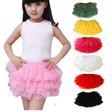 Fashion girls tutu skirts baby ballerina skirt children fluffy tulle skirt kids dance ballet skirt for girl casual Candy colors(China)
