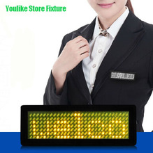 LED mini sign board scrolling message price tag name badge barmaid chest card Led worker ID name badge