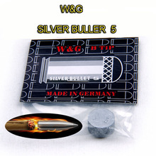 Free shipping W&G Silver Buller 5 Punch Cue Tip 14mm Rushed jump bar Pool Cue Stick Billiard Tips  5 layers Cow cue tip