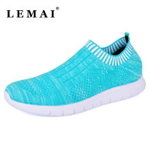 LEMAI Unisex Women Breathable Mesh Running Shoes ,Sport Sneakers for Men's&Women Athletic Shoes Summer Platform Free Run Shoes(China)