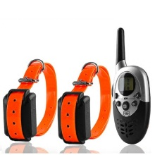 New 1000m Remote Dog Training Collar Pet Dogs Electric Shock Training Collar Waterproof Rechargeable LCD Remote for 1 or 2 Dogs(China)