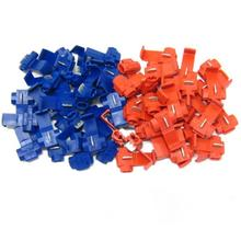50pcs/20Pcs Red and Blue Scotchlocks Snap On Wire Electrical Cable Connectors Wire Splicer Terminal Splice Crimp(China)