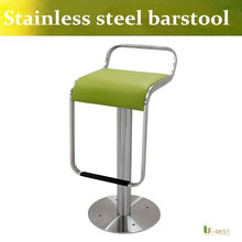 U-BEST McDonald's barstool Brushed stainless steel bar chair The special KTV leather tall bar chair Fixed floor barstools(China)