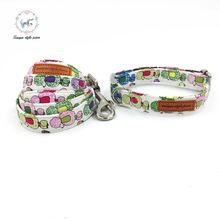 dog collar and dog leash set  matel buckle   dog &cat necklace pet accessaries