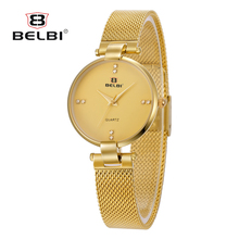 Simple Men Watches Fashion Ultra-thin Steel Quartz Waterproof Male Watches China Famous Wristwatch Brand BELBI Relogio Masculino(China)