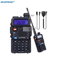 Baofeng UV-5R    8W High Power VHF/UHF 136-174/400-520MHz Dual Band FM True Two-way Ham Radio Walkie Talkie +MIC+Programming