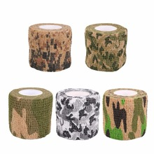 5cmx2m Self-adhesive Non-woven Camouflage Wrap Rifle Hunting Shooting Cycling Tape Waterproof Camo Stealth Tape(China)