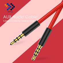 WMZ 3.5 Aux Cable for iPhone Gold-Plated 3.5mm Male to Male Audio Cable for Car iPhone MP3 / MP4 Headphone Beats Speaker(China)