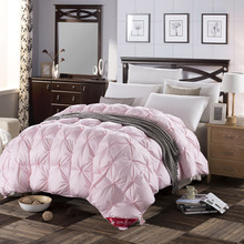 3d design white pink color natural 90% duck down comforter 500FP light warm queen king size quilt High quality Grade A bedhome