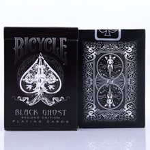 New Ellusionist Black Ghost Deck Bicycle Second Edition Playing Cards Magic Tricks Magic Poker Card Magic Toy 81214