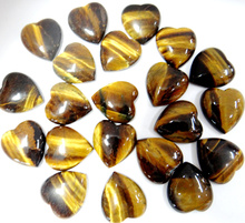 Hot Fashion Natural Heart CAB Cabochons 18*15mm Tiger Eye pendant Beads For Fine Jewelry Making 30PCS Wholesale Free Shipping(China)