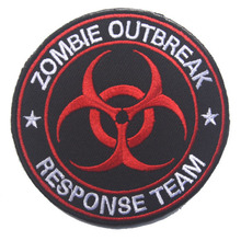 Zombie Outbreak Response Team Embroidery The Tactical Military Patches Badges For Clothes Clothing HOOK/LOOP 8CM Zombie Hunter