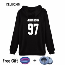 KELUOXIN 2017 Kpop BTS Shield Logo Sweatshirt Bangtan Boys Zipper Hoodies Women XXXXL Fleece Black Clothing Hooded Streetwear
