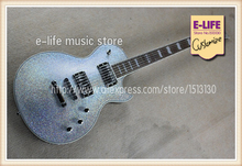 Custom Shop ESP EC 1000M Eclipse Custom Electric Guitar Silver Sparkle Finish Black Back China Guitars In Stock(China)