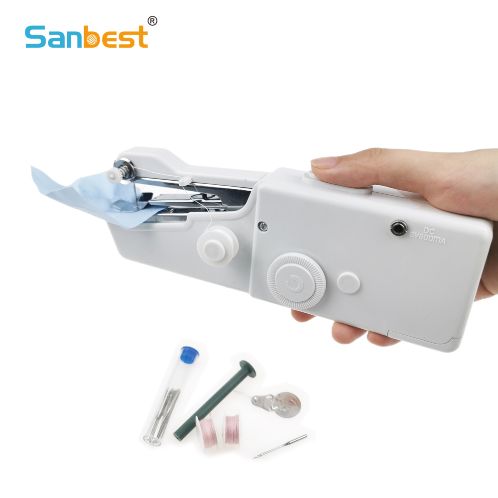 Portable Cordless Mini Hand-Held Clothes Sewing Machine CA