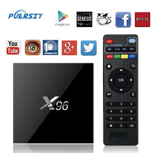 PUERSIT X96 TV BOX Android 6.0 Amlogic S905X 64bits Marshmallow Quad Core 2G+16G 4K Set YouTube HD Wifi Media Player Top Box