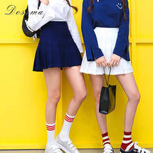 pleated casual skirt 2017 korean preppy style slim high waist white pleated skirt mini wild sweet girls high waist shorts skirt