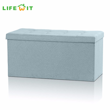 Lifewit Folding Clothes Book Storage Box Benches Seat Home Bedrooom Ottoman Cube Foot Stool Seat Organizer Easy Assembly