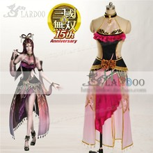 Movie Game Dynasty Warriors Diao Chan Party Fashion Uniform Hallowmas Cosplay Anime Costume Pink Chinese Dress Cheongsam