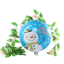 5Pcs New Cute Christmas Santa Claus Inflatable Toys Foil Balloon Decoration Holiday Xmas