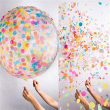 36-Inch Air Balls Wedding Decoration Clear Letax Balloon Birthday Party Decorations Kids Party Supplies With 20g Confettis