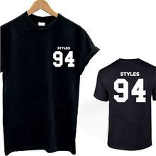 HARRY STYLES 94 T Shirt Tops Summer Letter Print Tee TShirt 1D Music Tour Fan D.O.B Women&Men Cotton T-Shirt Camisetas T-F10858