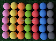 Free Shipping 7 colors Golf ball indoor exercise ball foam ball eva solid color 100pcs/lot(China)
