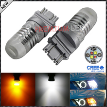 iJDM Super Bright White/Amber 20W High Power 3157 3057 3155 3357 T25  Dual-Color Switchback LED Bulbs For Front Turn Signal