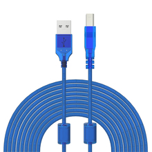 Blue USB 2.0 Male to Male Scanner Printer Cable Sync Data Cable 0.3m 0.5m 1m 1.5m 1.8m 3m 5m 10m for Laser Printer Sales(China)