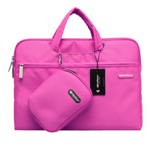 Lady Ultra Thin Computer Handbag with Small  Storage Pouch Casual Notebook Briefcase 11.6 12 13.3 14 15.4 Inch Laptop Bag