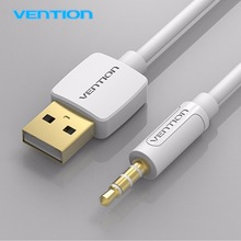 Vention 3.5mm Jack to USB 2.0 Charger AUX Data Cable Audio Headphone Adapter Cord for Apple for ipod for shuffle 3rd 0.25/0.5/1M