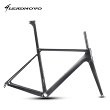 T800 carbon road bike frame light weight racing bicycle frameset seatpost fork headset accept customized painted LEADNOVO LN3.0