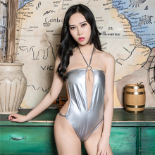 Buy light String Sling neck Hollow Cardigan High fork triangle sexo body sexy lingerie porno latex catsuit bodystocking lenceria