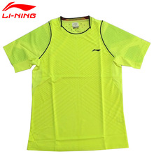Li-Ning Women's Badminton Shirts Lining Breathable Short Sleeve Table Tennis T-shirt Quick Dry Ladies Li Ning Jersey AAYK142 Top(China)