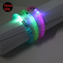 LED Colorful Flashing Bracelets Fashion Lighting Party Bangle Glow Wristband For Party Event Festival Supplies 1pcs PT026