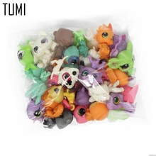 12PCS/lot Cute Rare Littlest Pet Shop LPS Lot Figures Collection Toy Shorthair Cat Dog Loose Kids Action Figure Toys Robot D061