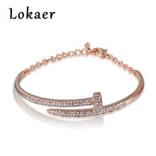 Lokaer New Cuff Bracelet Jewelry Original Style Nails Shaped Top Quality Pulseras Mujer For Women Bracelets & Bangles Gifts