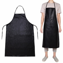 NaroFace Leather Anti-oil Apron Kitchen BBQ Restaurant Catering Cooking Waterproof Restaurant Cooking Aprons Black