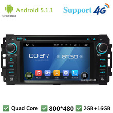 QuadCore Android 5.1.1 Car DVD Player Radio DAB+ 3G/4G WIFI GPS Map For Jeep Compass Commander Grand Cherokee Wrangler Dodge RAM
