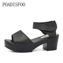 [H][C]New Summer Style Women's Plus Size Shoes Sandals Fish Head High Heels Solid Sandals Women Platforms Shoes For Lady.XL-21(China)