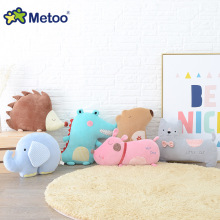 Kawaii Plush Stuffed Animal Cartoon Kids Toys for Girls Children Baby Birthday Christmas Gift Elephant Pillow Metoo Doll(China)